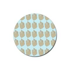 Kukang Animals Rubber Round Coaster (4 Pack)  by Jojostore
