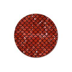 Scales1 Black Marble & Red Marble (r) Magnet 3  (round) by trendistuff