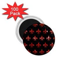 Royal1 Black Marble & Red Marble (r) 1 75  Magnet (100 Pack)  by trendistuff