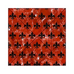 Royal1 Black Marble & Red Marble Acrylic Tangram Puzzle (6  X 6 ) by trendistuff