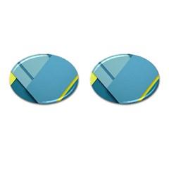 New Bok Blue Cufflinks (oval) by Jojostore