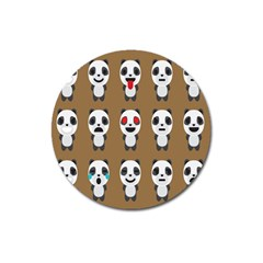 Panda Emoticon Magnet 3  (round) by Jojostore