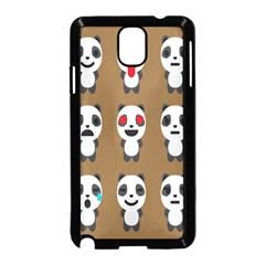 Panda Emoticon Samsung Galaxy Note 3 Neo Hardshell Case (Black) by Jojostore