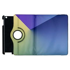 Purple Yellow Apple Ipad 3/4 Flip 360 Case by Jojostore