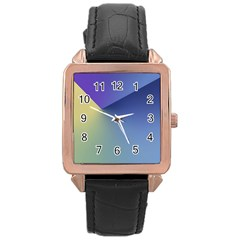Purple Yellow Rose Gold Leather Watch  by Jojostore