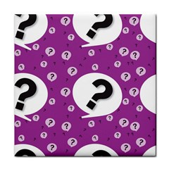 Question Mark Sign Tile Coasters by Jojostore