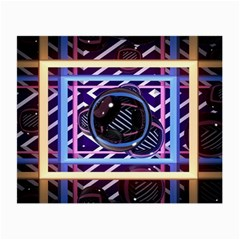 Abstract Sphere Room 3d Design Small Glasses Cloth (2 Side) by Amaryn4rt