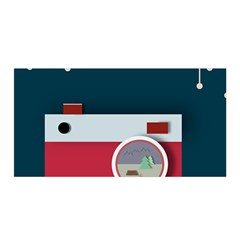 Camera Vector Illustration Satin Wrap by Amaryn4rt