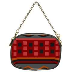 Red Aztec Chain Purses (two Sides)  by Jojostore