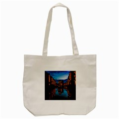 Hamburg City Blue Hour Night Tote Bag (cream)