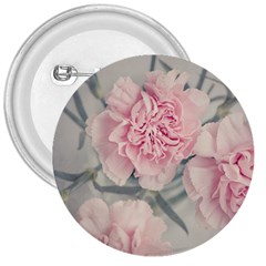Cloves Flowers Pink Carnation Pink 3  Buttons by Amaryn4rt