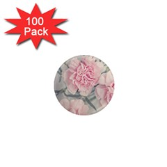 Cloves Flowers Pink Carnation Pink 1  Mini Magnets (100 Pack)  by Amaryn4rt