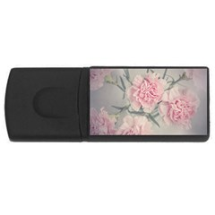 Cloves Flowers Pink Carnation Pink Usb Flash Drive Rectangular (4 Gb)  by Amaryn4rt