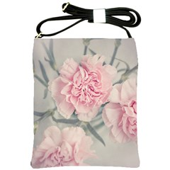 Cloves Flowers Pink Carnation Pink Shoulder Sling Bags by Amaryn4rt
