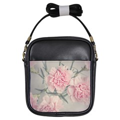 Cloves Flowers Pink Carnation Pink Girls Sling Bags by Amaryn4rt