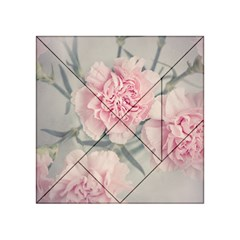 Cloves Flowers Pink Carnation Pink Acrylic Tangram Puzzle (4  X 4 ) by Amaryn4rt