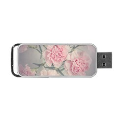 Cloves Flowers Pink Carnation Pink Portable Usb Flash (one Side) by Amaryn4rt