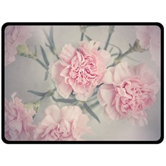 Cloves Flowers Pink Carnation Pink Double Sided Fleece Blanket (large)  by Amaryn4rt