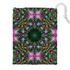 Digital Kaleidoscope Drawstring Pouches (xxl) by Amaryn4rt