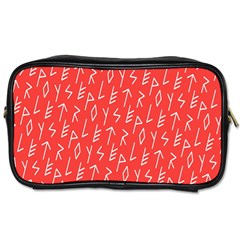 Red Alphabet Toiletries Bags by Jojostore