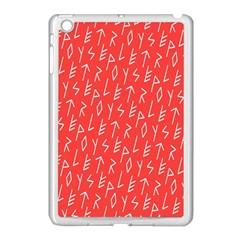 Red Alphabet Apple Ipad Mini Case (white) by Jojostore