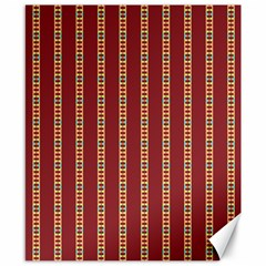 Pattern Background Red Stripes Canvas 8  X 10  by Amaryn4rt