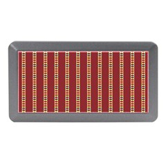 Pattern Background Red Stripes Memory Card Reader (Mini) by Amaryn4rt