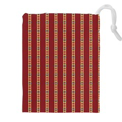 Pattern Background Red Stripes Drawstring Pouches (xxl) by Amaryn4rt