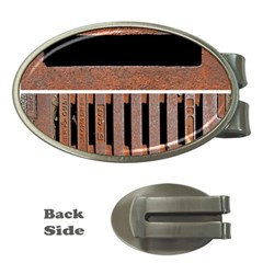 Stainless Structure Collection Money Clips (Oval)