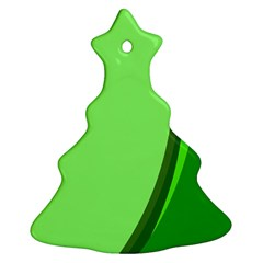 Simple Green Christmas Tree Ornament (2 Sides) by Jojostore