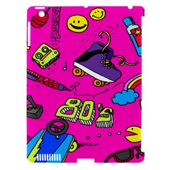 Smile Cute Face Purple Apple Ipad 3/4 Hardshell Case (compatible With Smart Cover) by Jojostore