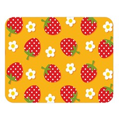 Strawberry Double Sided Flano Blanket (large)  by Jojostore