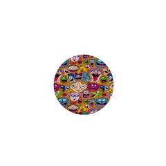 Smiley Pattern 1  Mini Magnets by Jojostore