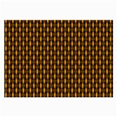 Webbing Woven Bamboo Orange Yellow Large Glasses Cloth (2 Side) by Jojostore
