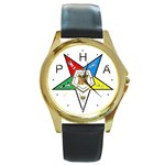 PHA Eastern Star Round Gold Metal Watch