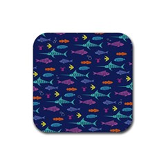 Twiddy Tropical Fish Pattern Rubber Coaster (square)  by Jojostore