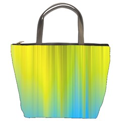 Yellow Blue Green Bucket Bags by Jojostore