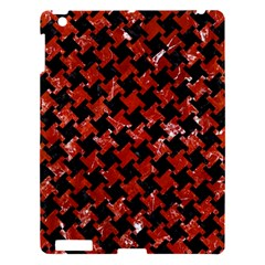 Houndstooth2 Black Marble & Red Marble Apple Ipad 3/4 Hardshell Case by trendistuff