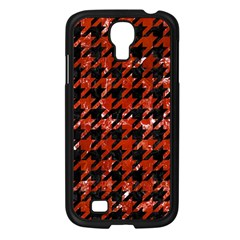 Houndstooth1 Black Marble & Red Marble Samsung Galaxy S4 I9500/ I9505 Case (black) by trendistuff
