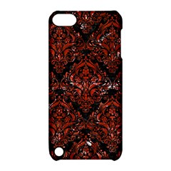 Damask1 Black Marble & Red Marble Apple Ipod Touch 5 Hardshell Case With Stand by trendistuff
