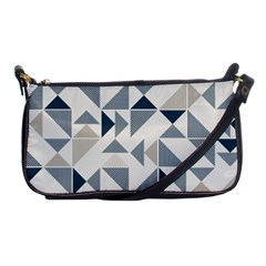 Geometric Triangle Modern Mosaic Shoulder Clutch Bags by Amaryn4rt