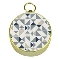 Geometric Triangle Modern Mosaic Gold Compasses by Amaryn4rt