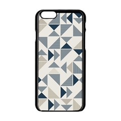 Geometric Triangle Modern Mosaic Apple Iphone 6/6s Black Enamel Case by Amaryn4rt