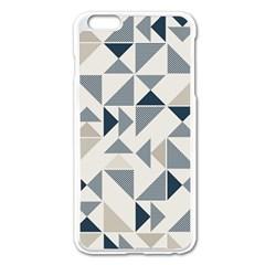 Geometric Triangle Modern Mosaic Apple Iphone 6 Plus/6s Plus Enamel White Case by Amaryn4rt