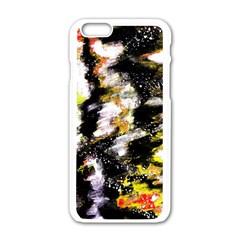 Canvas Acrylic Digital Design Art Apple Iphone 6/6s White Enamel Case by Amaryn4rt