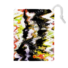 Canvas Acrylic Digital Design Art Drawstring Pouches (extra Large)
