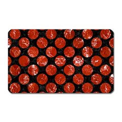 Circles2 Black Marble & Red Marble Magnet (rectangular) by trendistuff