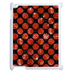 Circles2 Black Marble & Red Marble Apple Ipad 2 Case (white) by trendistuff
