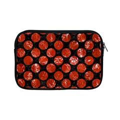 Circles2 Black Marble & Red Marble Apple Ipad Mini Zipper Case by trendistuff