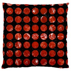 Circles1 Black Marble & Red Marble Large Flano Cushion Case (two Sides) by trendistuff